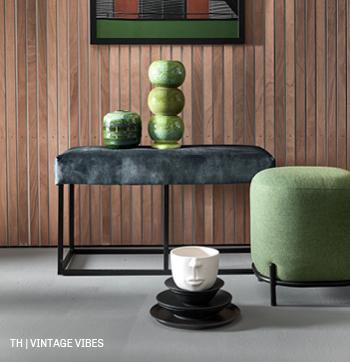 Retro interieur bij Trendhopper met meubels en accessoires in vintage style