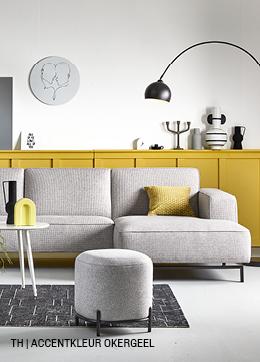 Tips inspiratie van Trendhopper accentkleur okergeel in je interieur.