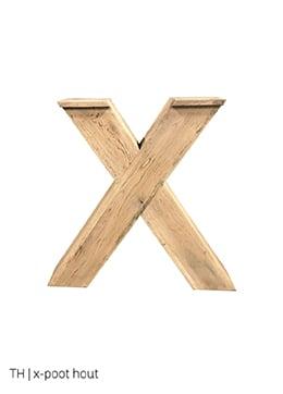 Trendhopper tafelpoten x poot hout