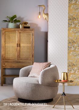 Tips inspiratie van Trendhopper accentkleur goudgeel in je interieur.