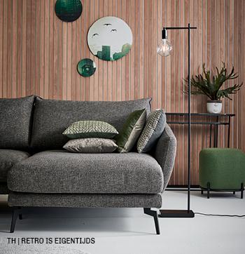 Eigentijdse uitstraling van retro style interieur bij Trendhopper