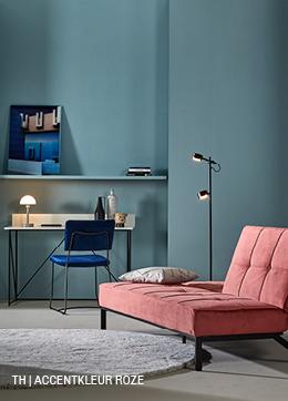 Tips inspiratie van Trendhopper accentkleur roze in je interieur.