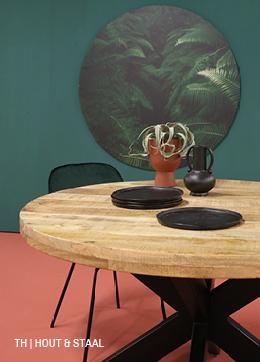Combineer hout en staal in een eettafel van Trendhopper