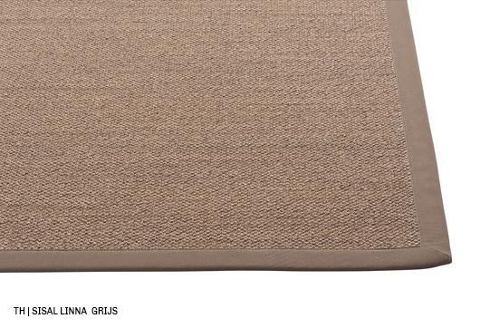 trendhopper sisal vloerkleed op maat Linna kleur grijs