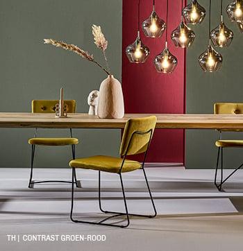 inspiratie van Trendhopper contrast groen rood in je interieur.