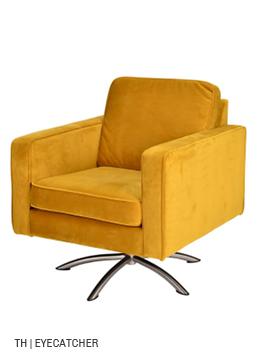 Trendhopper fauteuil Boston wordt eyecatcher door stof in geel