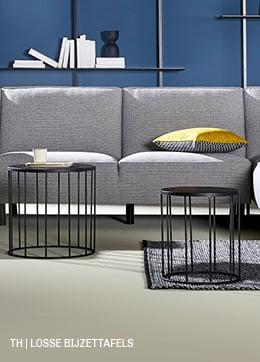 losse bijzettafels minimalistisch interieur trendhopper