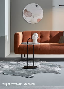 bijzettafel marmer minimalistisch interieur trendhopper