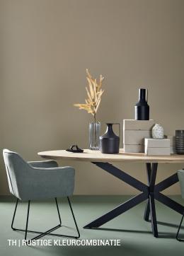 inspiratie van Trendhopper rustige kleurcombinatie  in je interieur.