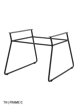 Trendhopper eetkamerstoel stoelpoten frame C
