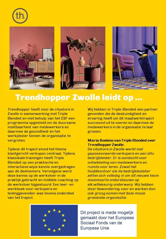 Trendhopper Zwolle leidt op