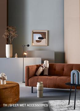 Sfeer met accessoires in een minimalistisch interieur van trendhopper