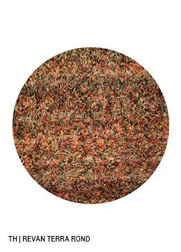 Trendhopper rond vloerkleed op maat revan kleur terra
