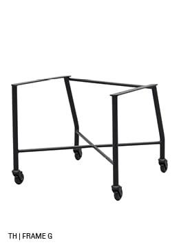 Trendhopper eetkamerstoel met wieltjes stoelpoten frame G