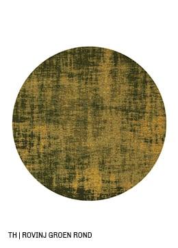 Trendhopper rond vloerkleed op maat rovinj kleur groen