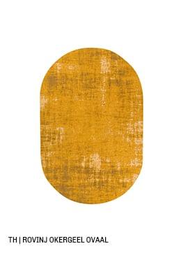 Trendhopper ovalen vloerkleed op maat rovinj kleur okergeel