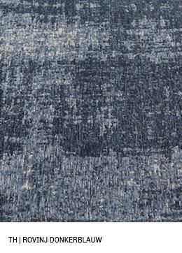 Trendhopper vloerkleed op maat rovinj kleur donkerblauw