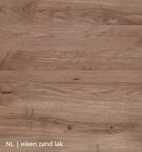 Eiken blad met zand lak voor NLwoont tafel op maat