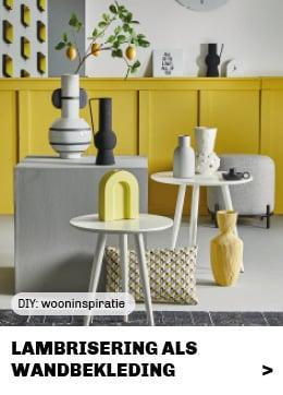 lambrisering van houten wandpanelen als doe het zelf wandbekleding bij Trendhopper