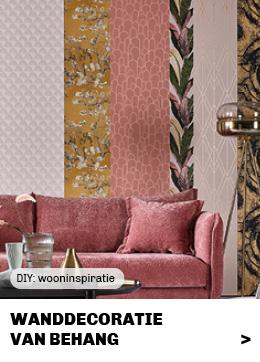 Doe het zelf wanddecoratie van Trendhopper met restjes behang