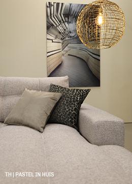Trendhopper tip geef een naturel pastel interieur glans met gouden details