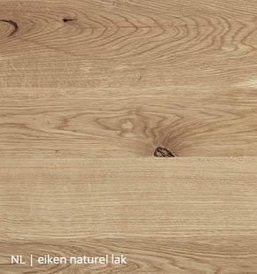 Eiken blad met naturel lak voor NLwoont tafel op maat