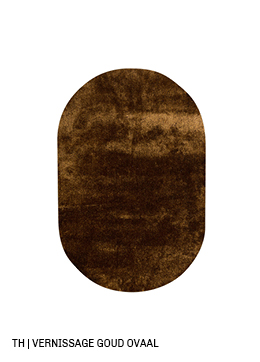 Trendhopper ovalen vloerkleed op maat Vernissage kleur goud