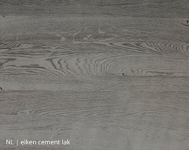 Eiken blad met cement lak voor NLwoont tafel op maat