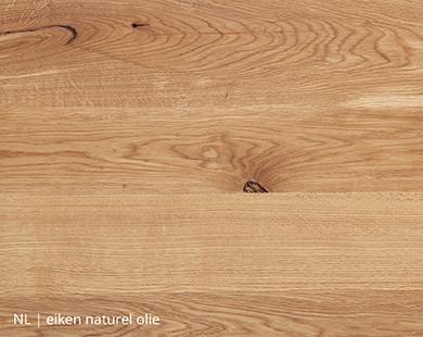 Eiken blad met naturel olie voor NLwoont tafel op maat