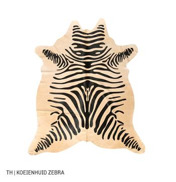 zebraprint vloerkleed op koeienhuid van Trendhopper