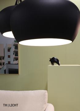 Lichte kleuren en stijlvolle verlichting in Trendhoppers rustige retro interieur