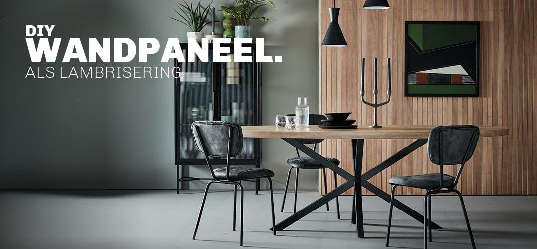 Inspiratie voor DIY houten wandpaneel als lambrisering bij Trendhopper