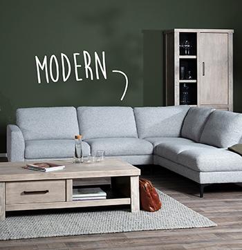Omnia moderne hoekbank budget home store