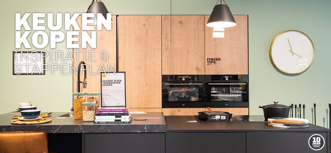 Doe inspiratie op en ontdek stappenplan voor nieuwe keuken kopen bij Trendhopper