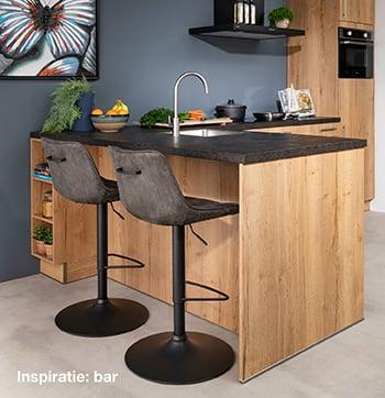 inspiratie keuken met bar bij Budget Home Store