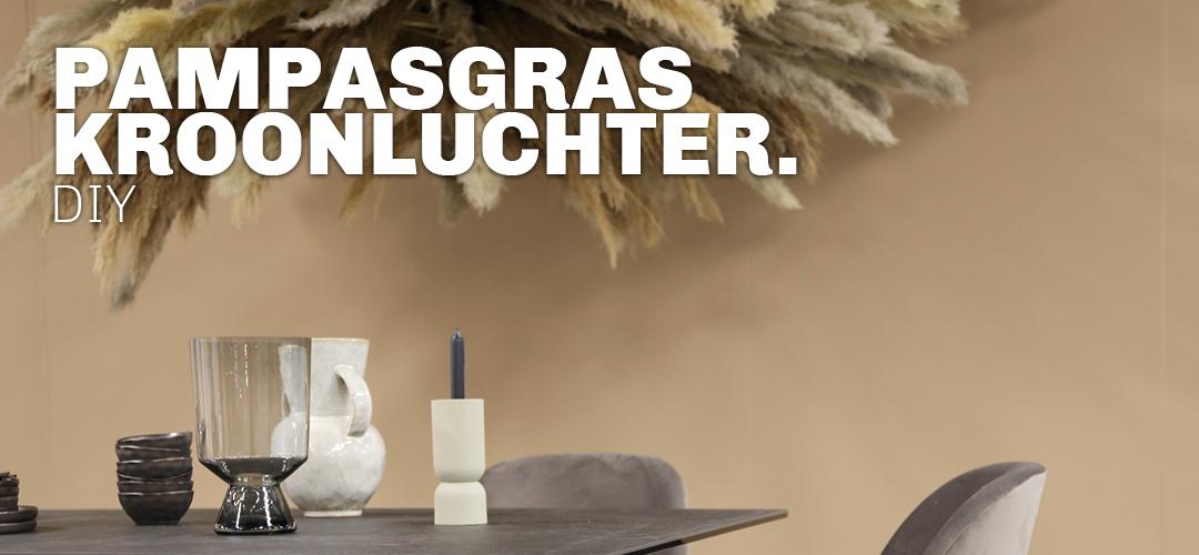 Inspiratie voor DIY kroonluchter van pampasgras bij Trendhopper