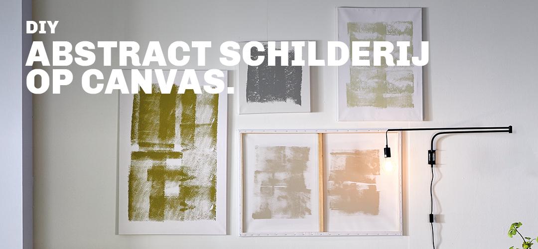 Inspiratie voor DIY abstract schilderij op canvas bij Trendhopper