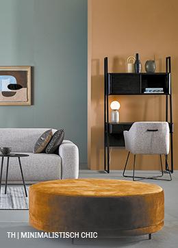 voorbeeld van een chic minimalistisch interieur trendhopper