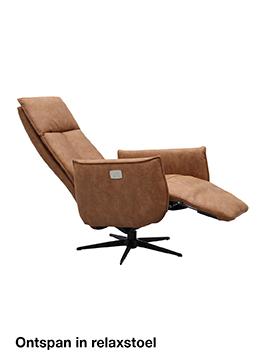 Ontspannen in een Budget Home Store relaxstoel