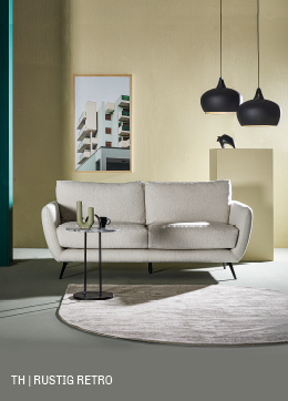 Gestroomlijnd design in rustig retro interieur bij Trendhopper