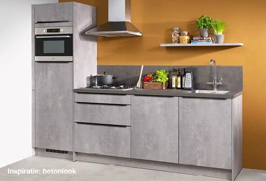 inspiratie betonlook keuken bij Budget Home Store