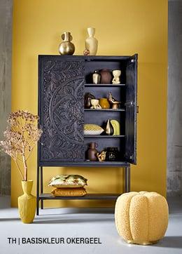 Tips inspiratie van Trendhopper basiskleur okergeel in je interieur.