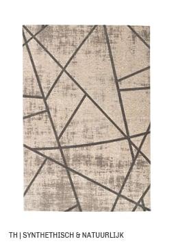 Vloerkleed van synthethisch en natuurlijk materiaal bij Trendhopper