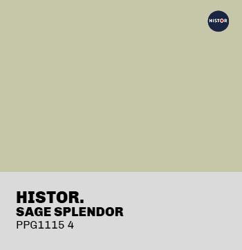 HISTOR sage splendour PPG1115-4 in Trendhopper retro interieurstyling