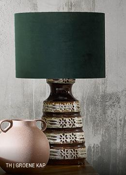 Trendhopper vintage lamp met lampenkap in groen