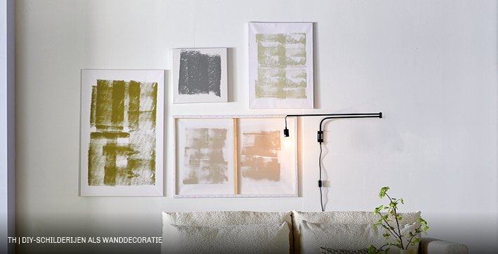 Trendhopper doe het zelf schilderijen als abstracte kunst