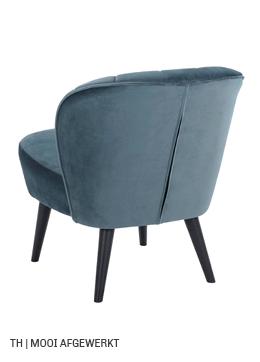 Trendhopper fauteuil Vino toont mooie afwerking van stof