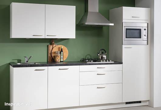 inspiratie witte keuken bij Budget Home Store