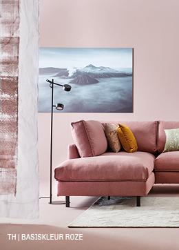 Tips inspiratie van Trendhopper basiskleur roze in je interieur.