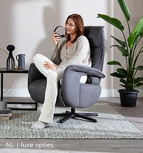 Luxe opties zoals USB-aansluiting op relaxfauteuil van NLwoont